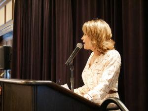 Karen Borta emcee at Lifesavers Foundation luncheon