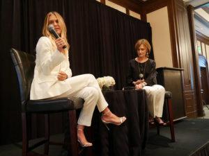 Lauren Scruggs speaking to women at luncheon