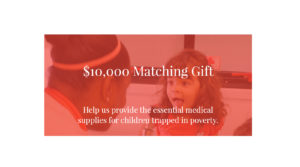 $10,000 Matching Gift for those in crisis
