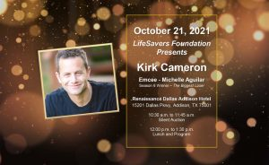 Fall Luncheon invite with speaker Kirk Cameron