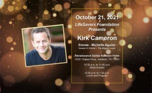 LifeSavers Foundation Luncheon invite with Kirk Cameron